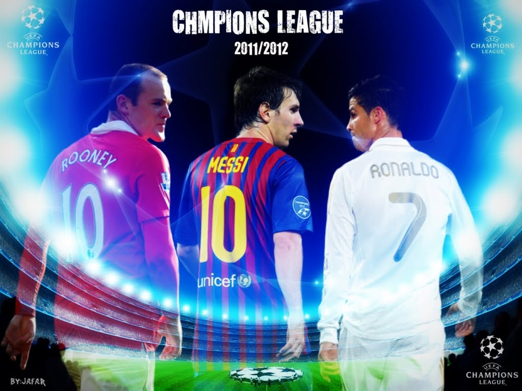 Cristiano Ronaldo Vs Messi Vs Rooney 2012 Wallpaper
