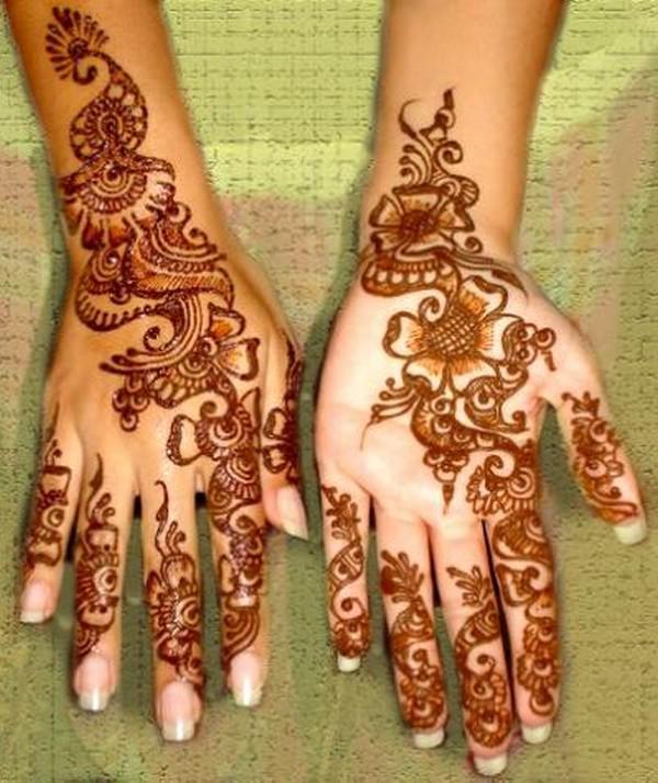 Mehndi Designs Colour : Latest mehndi design