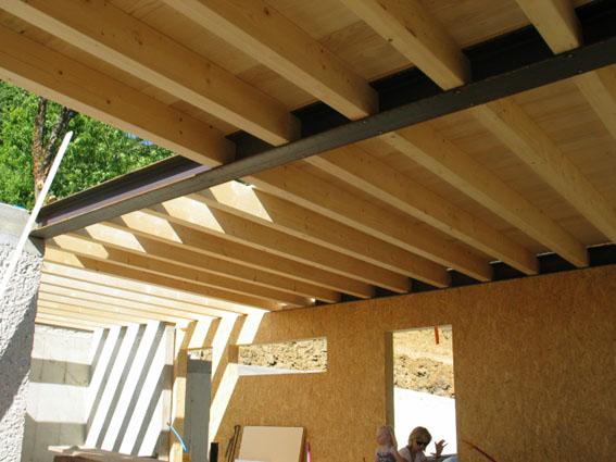 Notre maison ossature bois bioclimatique un p 39 tit plancher - Faire un plancher beton sur poutre bois ...