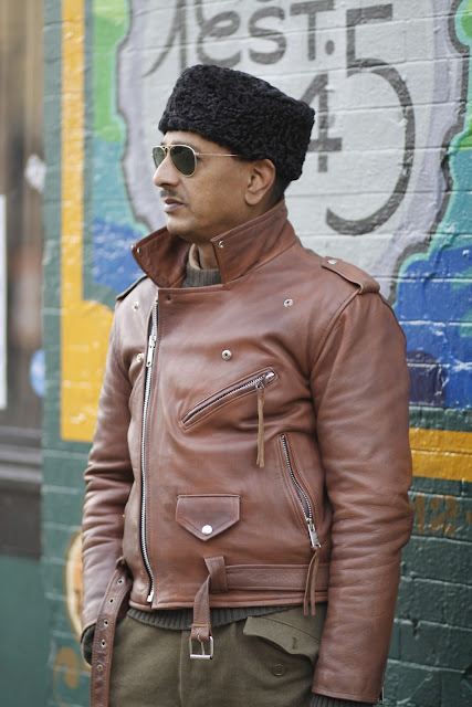 Ferdous Ahmed Comet Tavern leather jacket Seattle Street Style Steampunk Fashion it's my darlin'