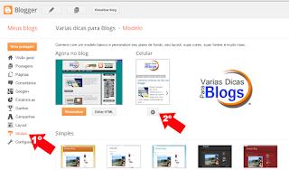 como desativar o Template mobile do blog