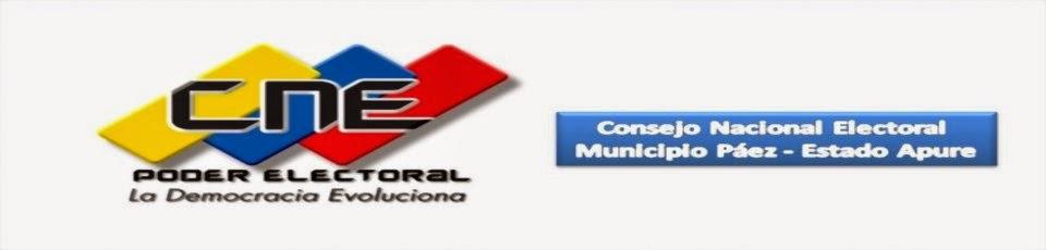 Consejo Nacional Electoral Municipio Páez Estado Apure.