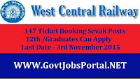 WEST CENTRAL RAILWAY RECRUITMENT 2015