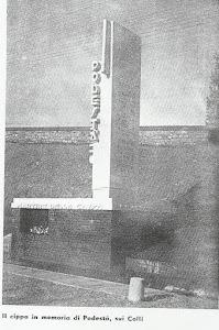 La Spezia via dei Colli, monumento eretto negli anni '30, in memoria dell'Ing. Podestà Francesco