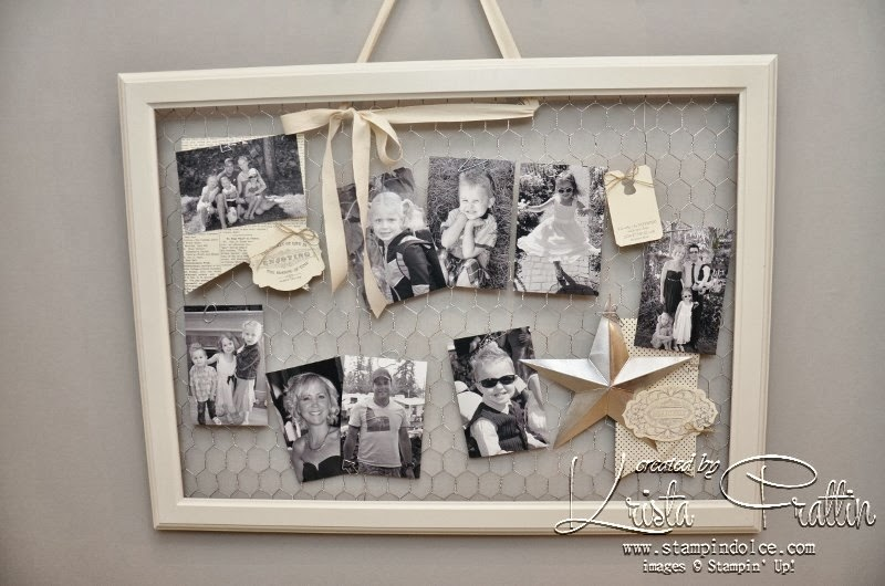Stampin\' Dolce: Winter retreat - Vintage style chicken wire frame