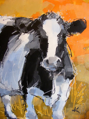 Cow Art Paintings 'Holstein Friesian'