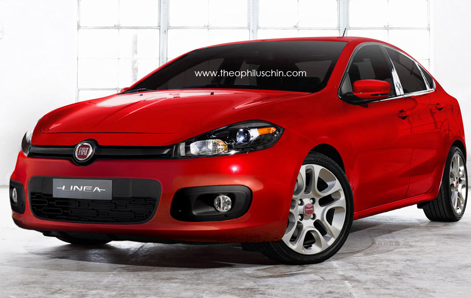 Proje    O Do Novo Fiat Linea 2013 Feita   Base No Dodge Dart