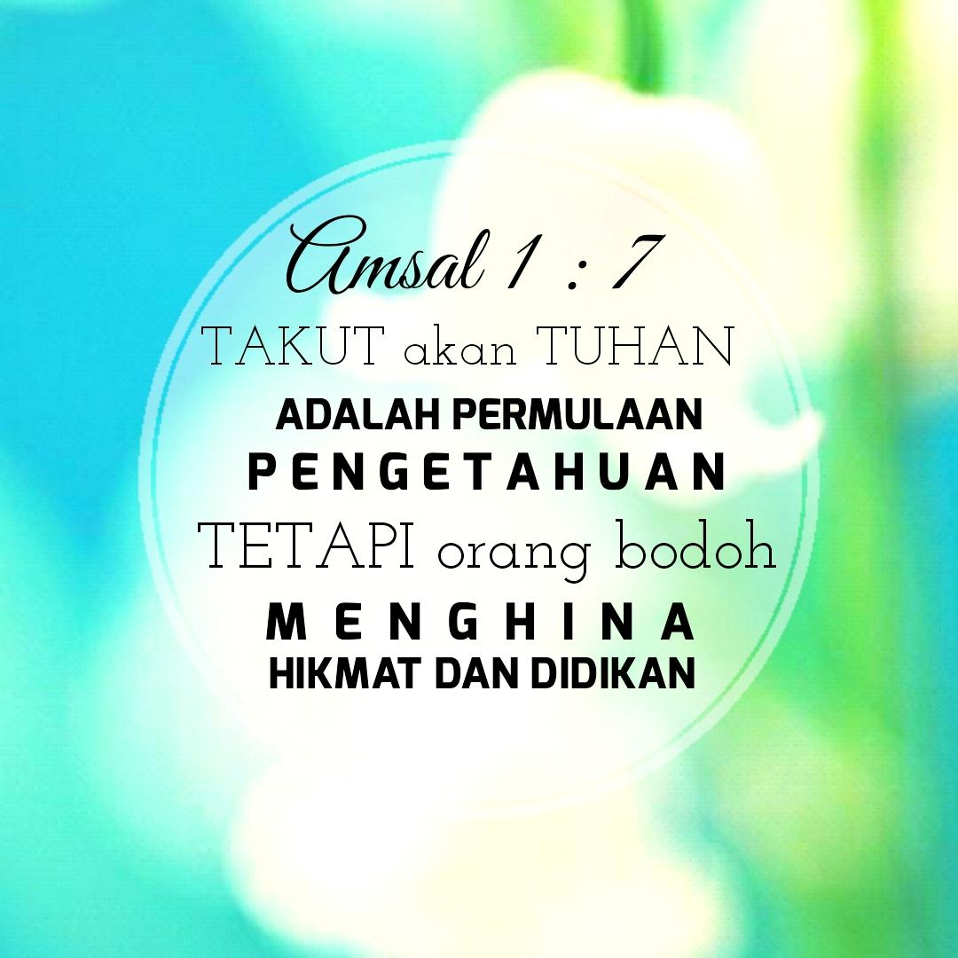 kata bijak blessing words ayat emas alkitab amsal 1 7