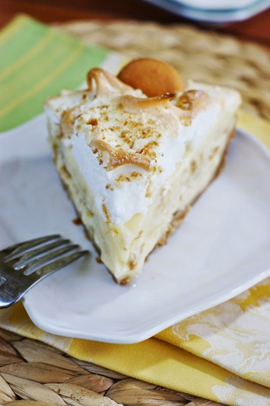 Banana Pudding Pie starts off with a crust of crushed vanilla wafers ...
