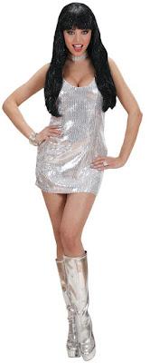 Sidste skoledag kjole i sølv