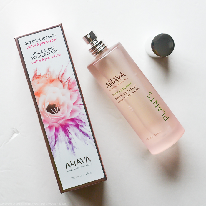 Ahava Cactus and Pink Pepper Collection Dead Sea Plants Dry Oil Body Mist