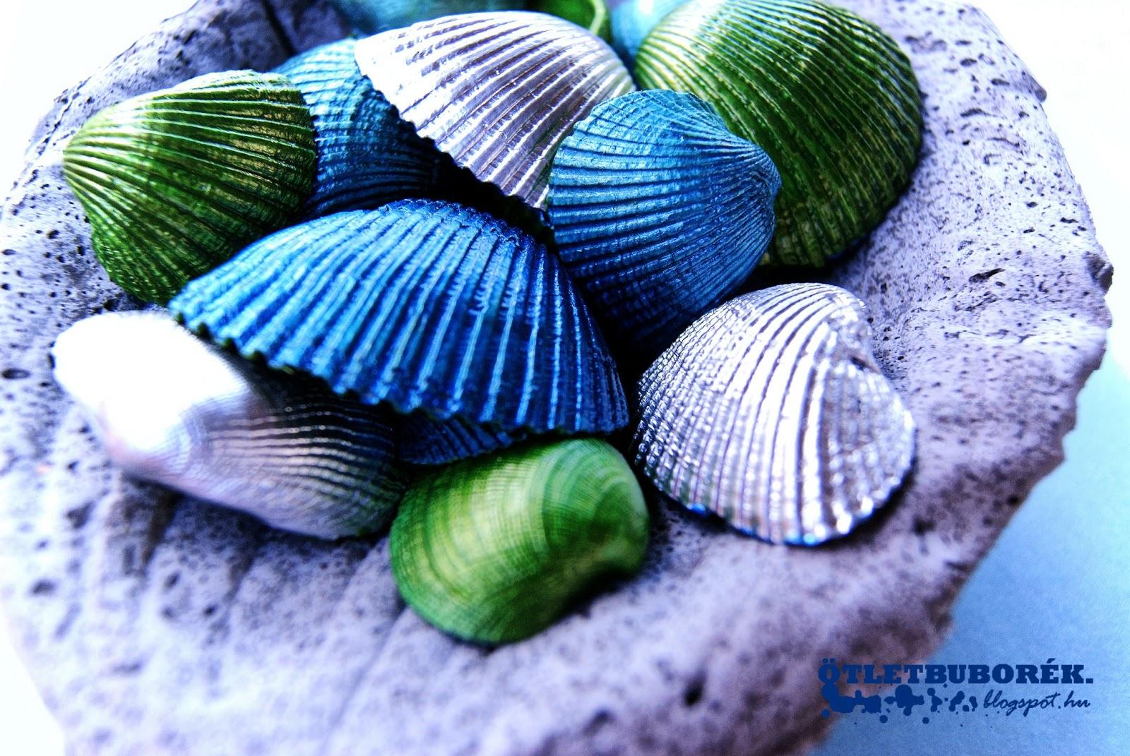 festett kagylók