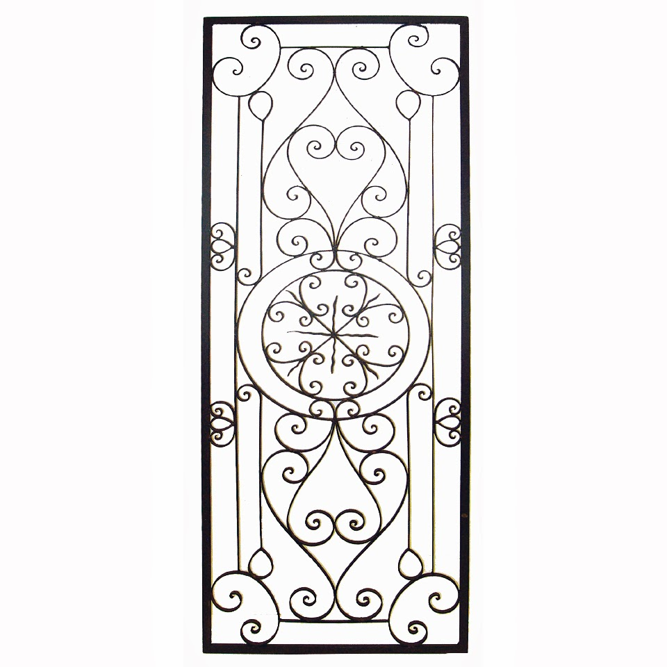 Wall grille is a great way to add a decorative tuscan touch to any