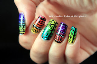 tribal nail art barry m nail art pens