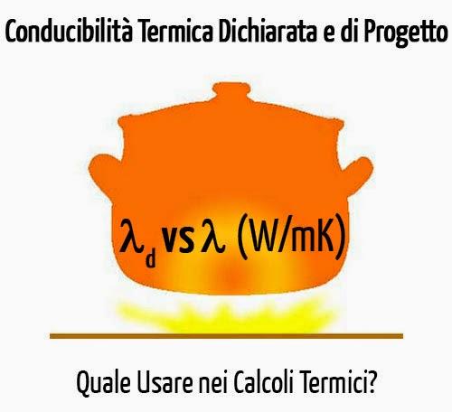 Conducibilità termica dichiarata e conducibilità di progetto
