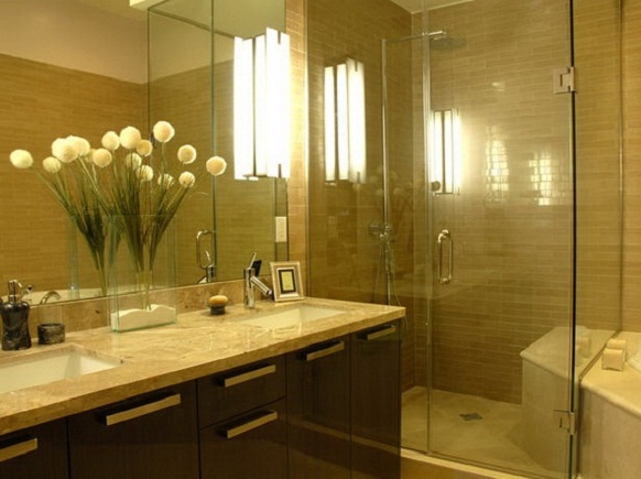 Bathroom Futuristic Simple Design With Cream Brown Designs For 2012