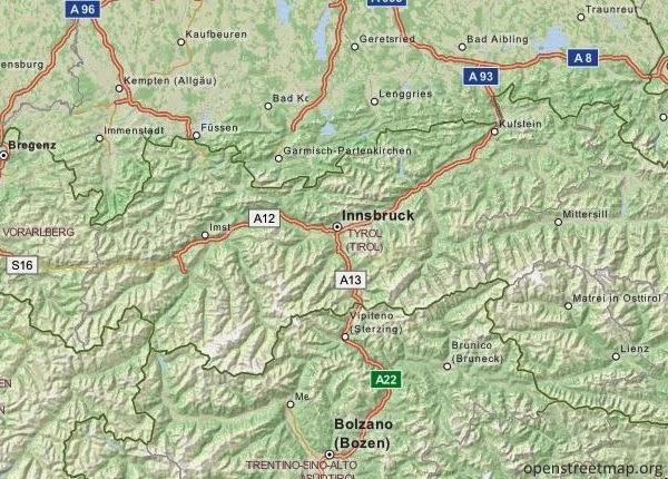 Tyrol Mapa