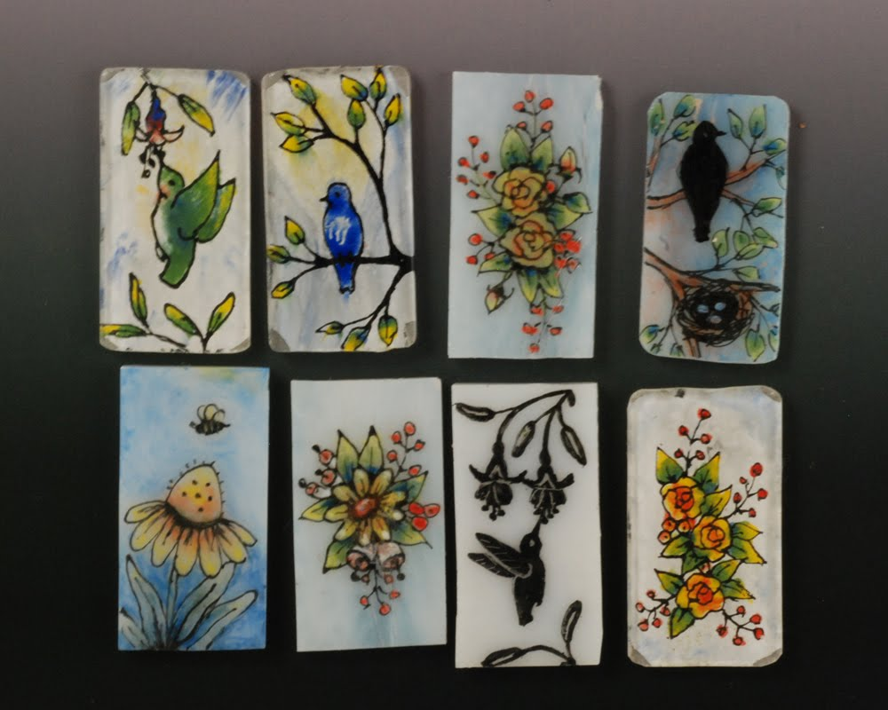 Vickie hallmark jewelry design for Back painted glass tile