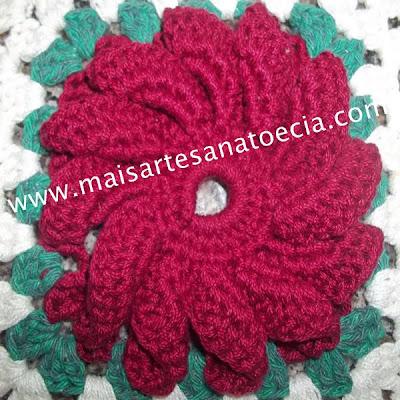 Mega Flor em crochê