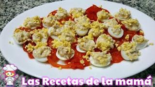 Huevos rellenos de codorniz
