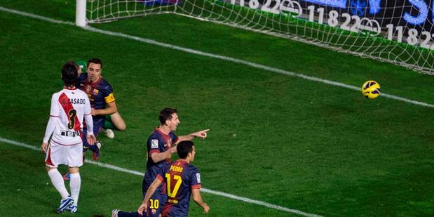 Hasil Pertandingan Rayo Vallecano vs Barcelona 0-5, La Liga 28 Okt 2012