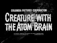 Creature with the Atom Brain title screen