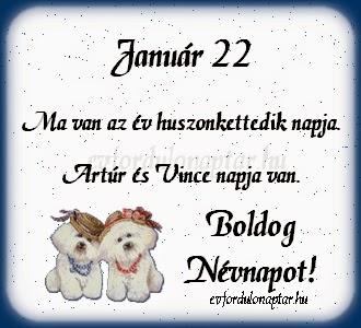 Január 22, Artúr, Vince névnap