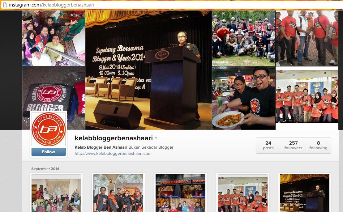 Instagram Kelab Blogger Ben Ashaari !