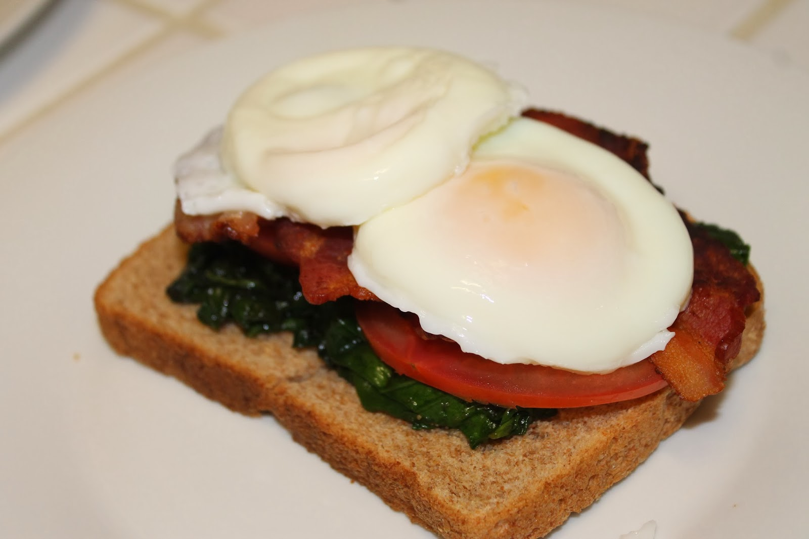 The Crystal Dish: Open-Faced Poached Egg Breakfast Sandwich