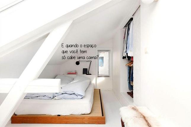 decoraçao-pequenos espaços-loft-quarto