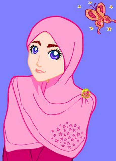 Kumpulan Gambar Kartun Muslimah Sedih Terbaru Berhijab Animasi Hijab
