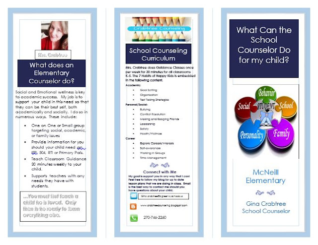 Mrs crabtree 39 s counseling corner school counselor brochure for Counseling brochure templates free