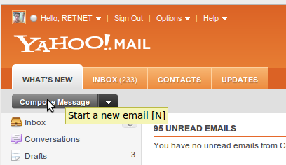 cara kirim email yahoo terbaru 2011