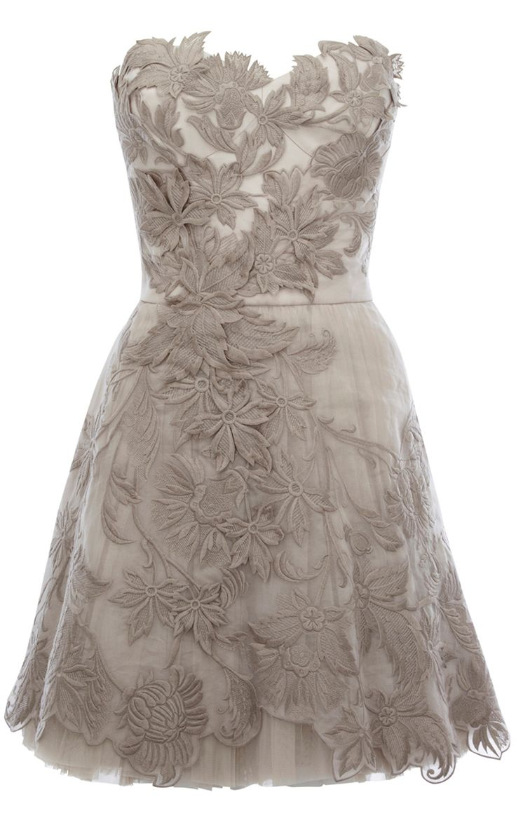 Beige Karen Millen Limited Edition Romantic Embroidery Dress