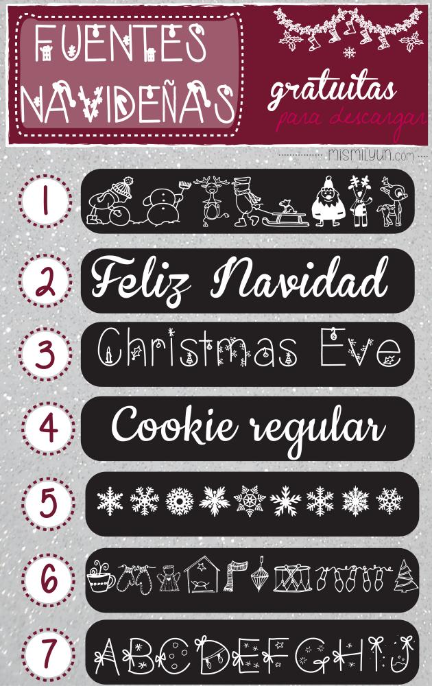 fuentes fonts navidad