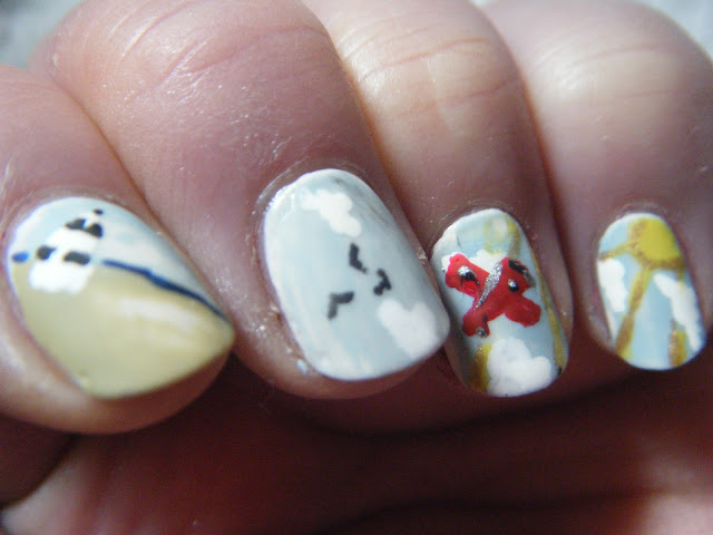 Little Red Plane Nailart
