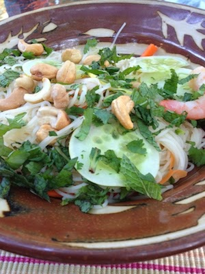 Salad with Rice Noodles by Future Relics Pottery