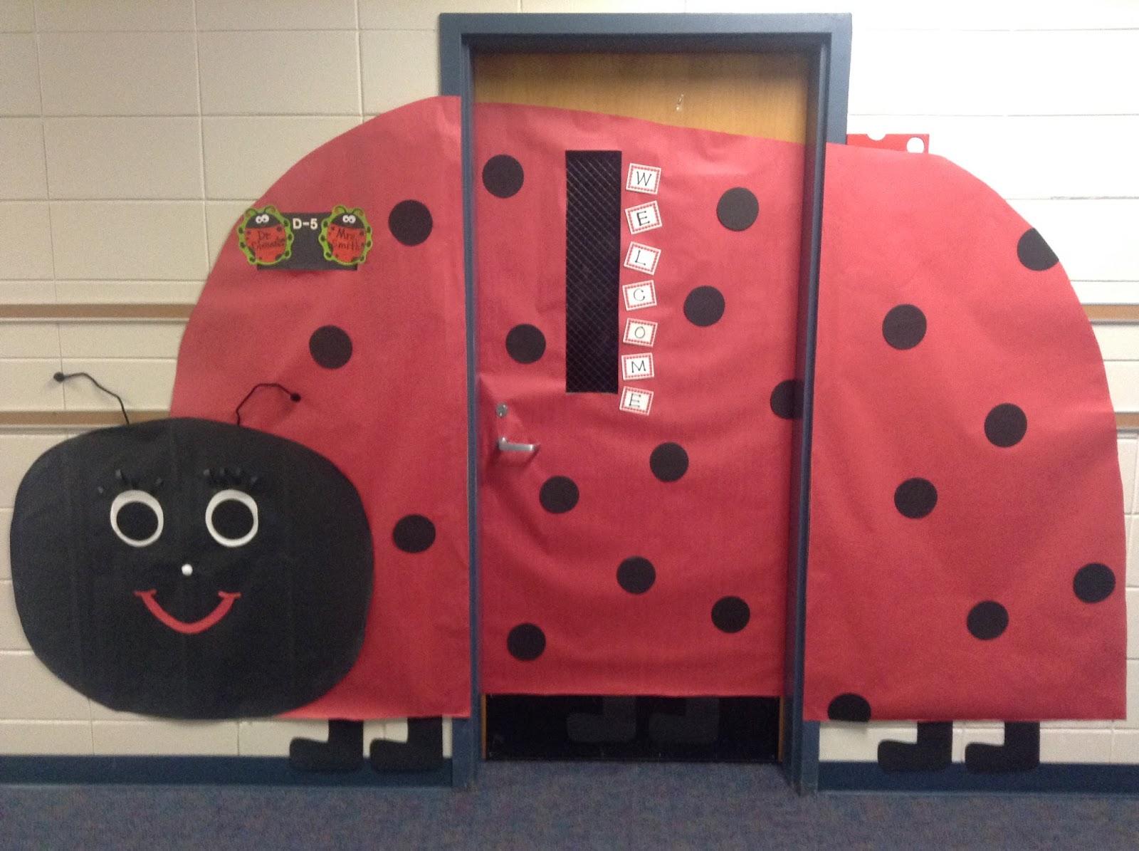 Ladybug Classroom Decoration Ideas : Dr clements kindergarten ladybug classroom door and bulletin board