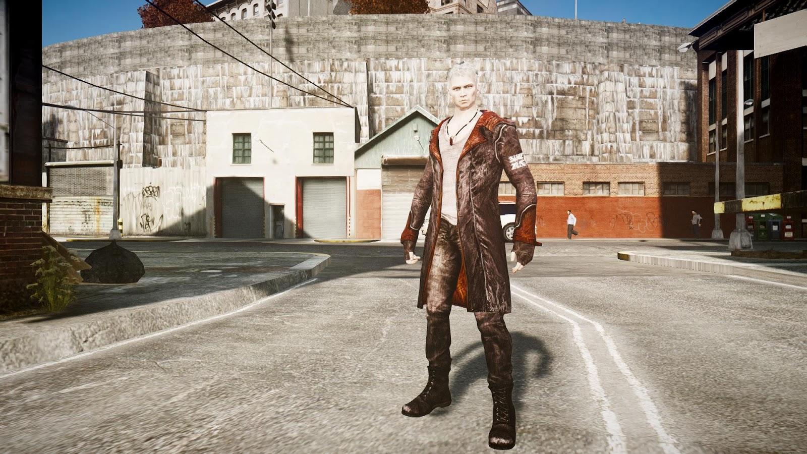 GTA 5,GTAV,GTA IV Mods and Skins: GTA 4 MOD :DmC Devil May