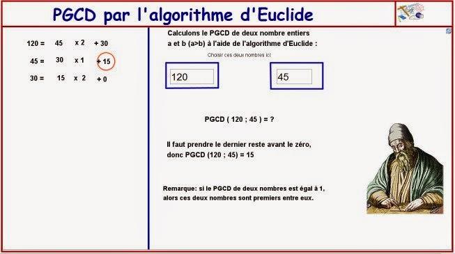 http://dmentrard.free.fr/GEOGEBRA/Maths/Nouveautes/4.25/PGCDEucMD.html