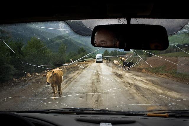 Górska droga w Swanetii