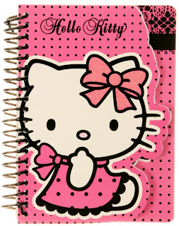 Hello Kitty pink lace spotty notepad