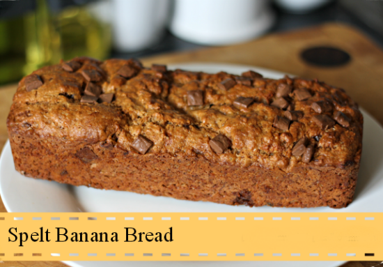 Thrifty Mum: B is for Bananas - Spelt Banana and Chocolate Bread