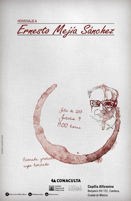 Homenaje al escritor Ernesto Mejía Sánchez en la Capilla Alfonsina del INBA
