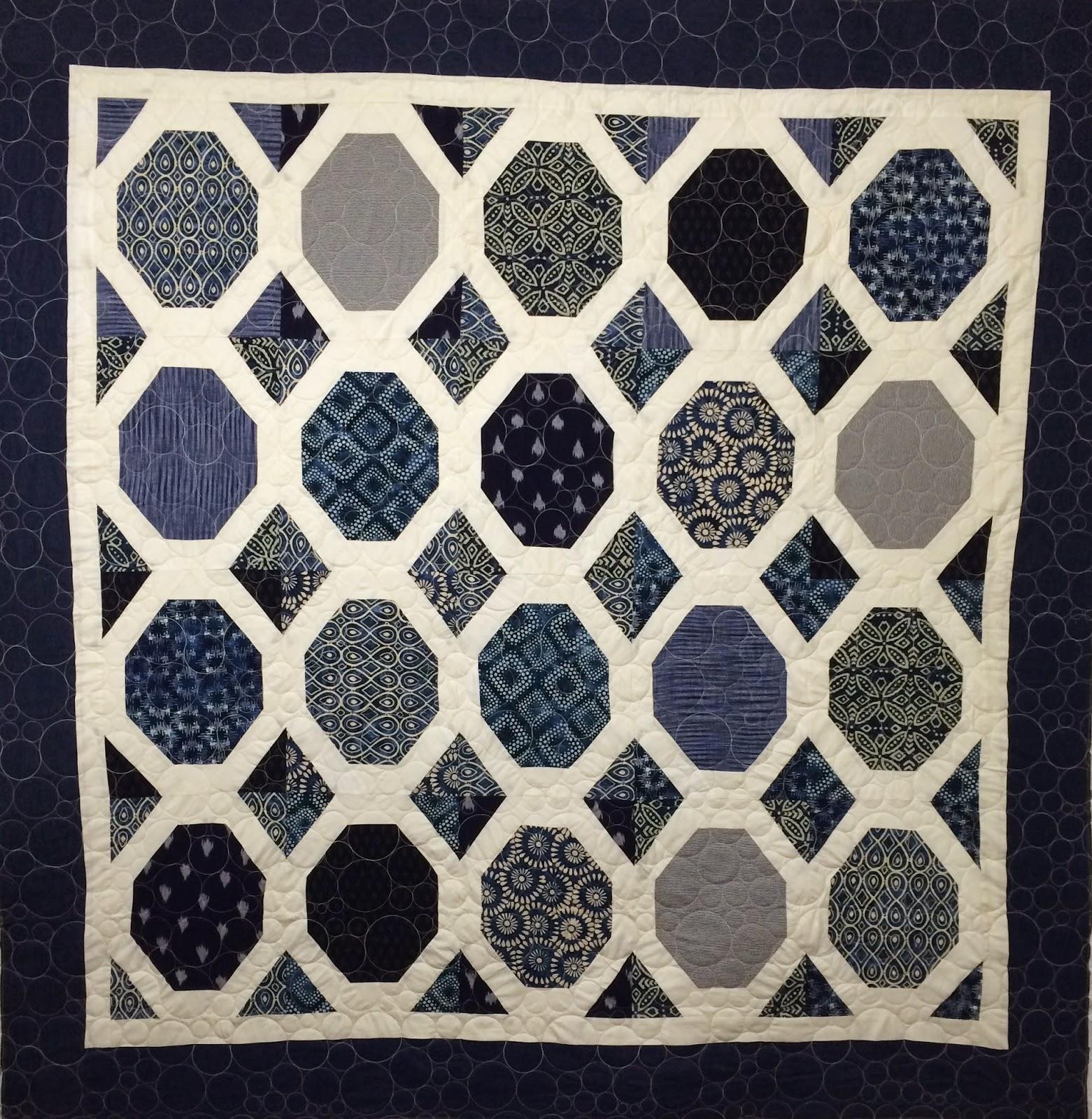 Debra Dennett's Hexagons on Point Quilt