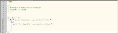 Sintaxe do comando ELSE em php
