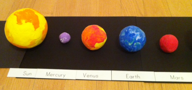 solar system out of foam balls -#main