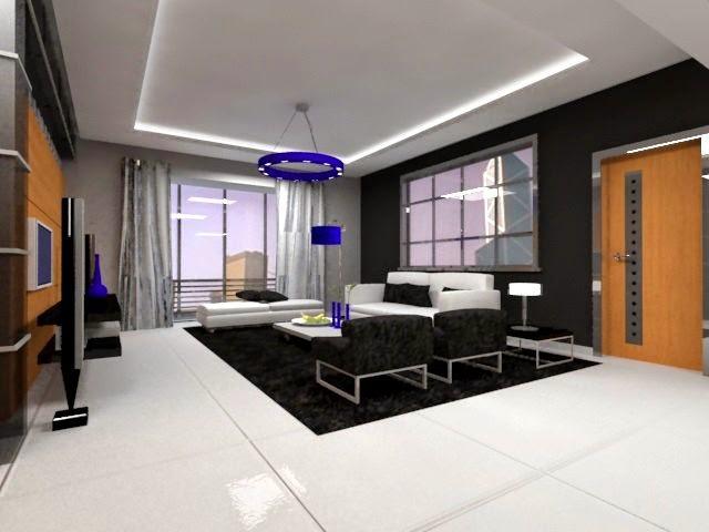 Departamento moderno de l neas rectas arquitectura for Iluminacion para departamentos modernos