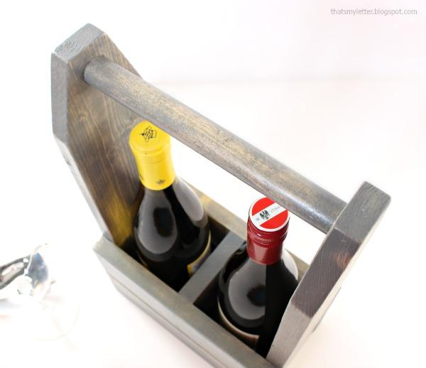 diy wood wine carrier