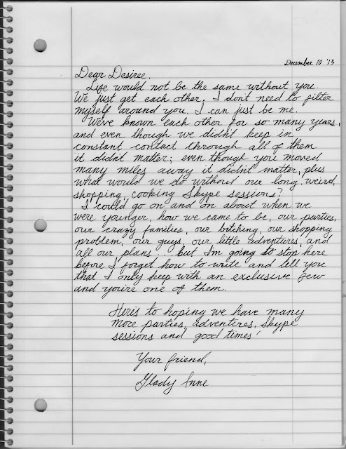 a letter to my friend essay Dear best friend, thank you for not making a big deal about the distance between us whether you're on the other side of the room, the state, the country, or the world, i know you've got my back thank you for knowing what i mean, even when i don't finish my thoughts.